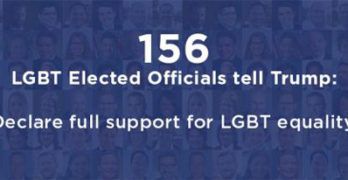 156 LGBT politicians sign letter asking Trump to help continue the fight for equality