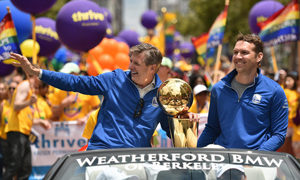Out and proud president of Golden State Warriors celebrates Pride Parade