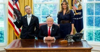 'Teacher of the Year' celebrates Pride in the Oval Office